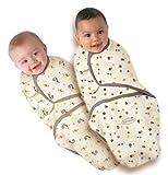 Summer Infant SwaddleMe 2 Pack Monkey/Mocka Dot 0-4m
