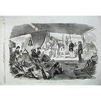 Impresión Antigua de los Juegos de Relajación 1857 de la Gente del Velero Del Océano Índico