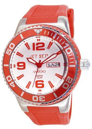 Jet Set J55454-05 - Reloj analógico de cuarzo unisex con correa de caucho, color naranja