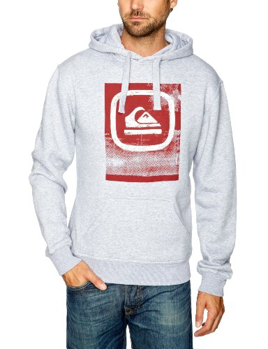 Quiksilver Hood Rib-KPMSW9222 Men's Sweatshirt Light Grey Heath Small