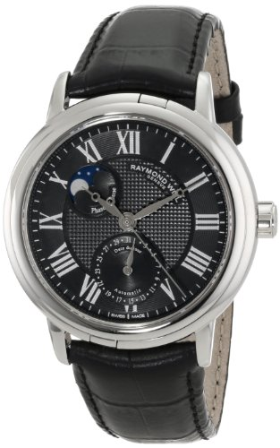 Raymond Weil Men's 2839-STC-00209 Maestro Analog Display Swiss Quartz Black Watch