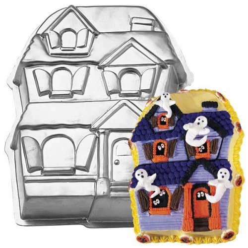 wilton halloween haunted house christmas holiday gingerbread house cake pan