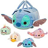 Disney Store Lilo & Stitch Tsum Tsum Set With Small Stitch Plush Storage Bag