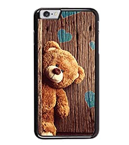 printtech Teddy Wooden Hearts Back Case Cover for Apple iPhone 6