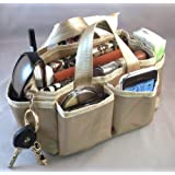 "Lexie Gold Handbag Bag Purse Travel Cosmetic Make Up Tote Organizer Insert Dimensions: 9""L X 4""H X 4""W"