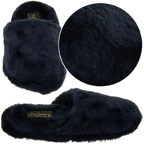 Image of Black Slip on Slippers for Women (B00415C5AI)