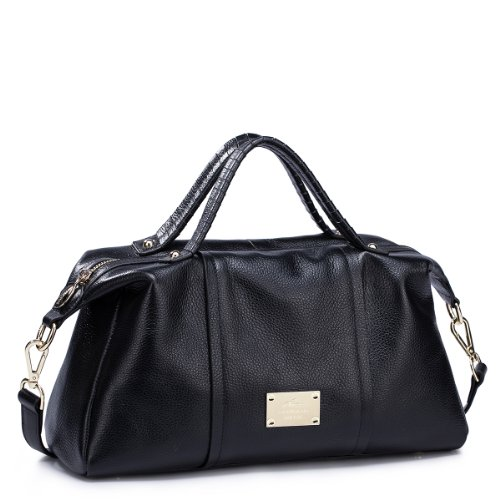 39c03960d9 Reviews Nucelle Bags Women Leather Handbags Tote Handbag black ...