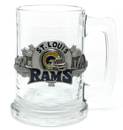 St. Louis Rams Colonial Tankard Beverage Holder 15 oz – NFL Football Fan Shop Sports Team Merchandise
