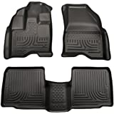Husky Liners Custom Fit WeatherBeater Front and Second Seat Floor Liner for Select Ford Explorer Models (Black)