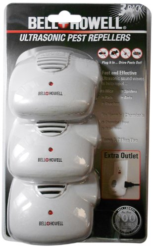 Bell and Howell Ultrasonic Pest Repellers with Extra Outlet &#8211; 3 Pack