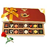 Mix Assorted Chocolates With Red Rose - Chocholik Belgium Chocolates