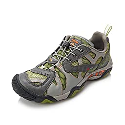 Clorts Women\'s Seaside Amphibious Athletic Pull On Water Shoe Hiking Water Sneaker Green WT-24A US8.5
