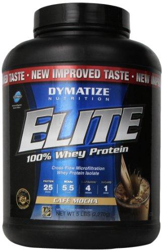 Dymatize Nutrition Elite Whey Shake, Cafe Mocha, 5 Pound
