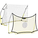 SKLZ Quickster 8x5 foot Soccer Combo System (One Goal and One Rebounder)