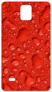 Raindrops In Red Background Back Cover Case for Samsung Galaxy Note 4