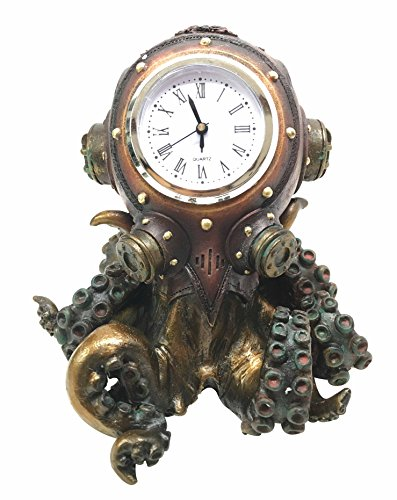 Steampunk Octopus Kraken Table Clock