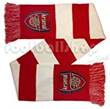 Arsenal FC Red & White Jacquard Bar Scarf