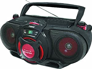 Naxa NPB-259 Portable MP3/CD AM/FM Stereo Radio Cassette Player/Recorder with Subwoofer and USB Input
