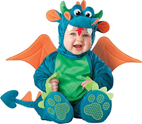 [Dressing Up & Costumes- Dinky Dragon Infant / Toddler Costume (12-18 Months) - OT-BSD-198750] (Dinky Dragon Baby Costumes)