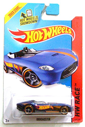 Hot Wheels, 2015 HW Race, Rrroadster [Blue] Die-Cast Vehicle #129/250 - 1