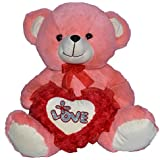 Toyzstation FL Teddy Bear With Love Heart Soft Toy For Valentine (40)