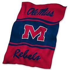 NCAA Mississippi Rebels Ultrasoft Blanket by Logo
