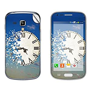 Skintice Designer Mobile Skin Sticker for Samsung Galaxy S Duos 2 S7582, Design - Surreal Clock