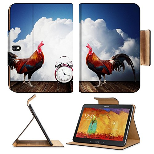 Samsung Galaxy Tab Pro 10.1 Tablet Flip Case Wake up with rooster crows concept IMAGE 26023624 by MSD Customized Premium Deluxe Pu Leather generation Accessories HD Wifi Luxury Protector (Rooster Wi Fi compare prices)