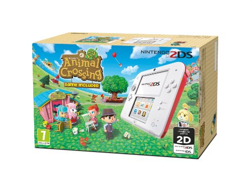Nintendo 2ds console bianco e rosso animal crossing - Animal crossing new leaf consoles ...