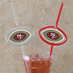 NFL San Francisco 49ers Six Pack Team Sip Sport Straws