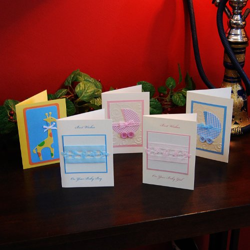 Handmade Congratulations Baby Card Set of 5