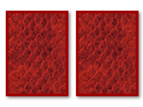 100 Legion Red Dragon Hide Deck Protectors Sleeves MTG Colors Scale - 1