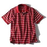 [2L・3L・4L・5L・6L]DANIEL DODD 吸汗速乾 鹿の子ボーダー半袖ポロシャツ azpr-14155 大きいサイズ メンズ