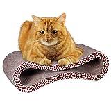 VOOPH(ブーフ) ネコの爪とぎ 猫爪磨き 爪研ぎ ベッド ソファ 表裏両面使用 特殊ダンボール キャット バリバリ ペットおもちゃ ヒョウ柄 S形状