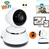 Pankh Wireless 720P Pan Tilt Security Baby Monitor Camera Night Vision WiFi IP Webcam. HD IP Wifi CCTV Indoor Security Camera (support Upto 64 GB SD Card)