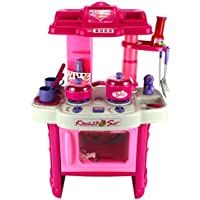 Deluxe Childrens Kitchen Appliance Cooking Play Set W/ Lights & Sounds, Perfect For Your Little Chef