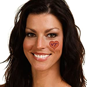 NCAA Virginia Tech Hokies 4-Pack I Love My U Tattoos