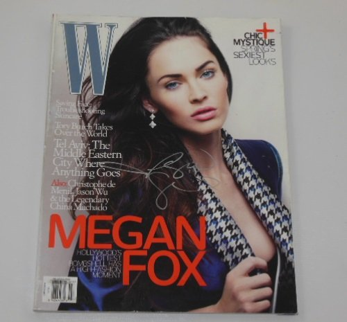 Megan Fox Jonah Hex Sexy Signed Autographed W Fashion Magazine Loa