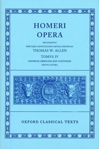 The Odyssey, Books 13-24 (Oxford Classical Texts: Homeri...