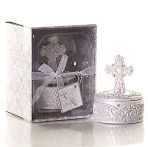 Cool Wedding Gifts Amazon : Religious Cross Trinket Box. Great wedding favours, birthday gifts ...