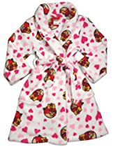 Angry Birds - Girls Microfiber Angry Birds Robe, White, Pink, Red 31447-6