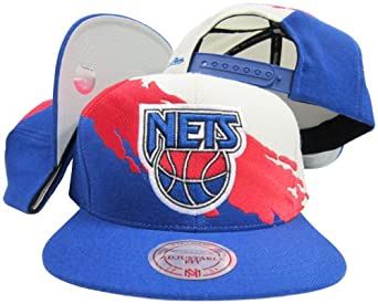 New Jersey Nets Snapback Adjustable Plastic Snap Mitchell & Ness Hat Cap by Mitchell & Ness