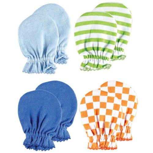 4-Pack Scratch Mittens, Blue set