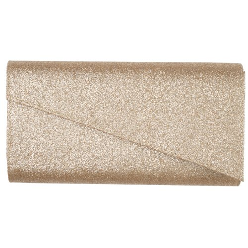 Womens Glitter Shimmer Ladies Formal Party Hard Case Evening Grab Clutch Bag