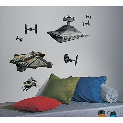 RoomMates RMK2657GM Star Wars Rebel and Imperial Ships Peel and Stick Giant Wall Decals (Star Wars Rebels Imperial compare prices)
