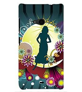 PRINTSHOPPII GIRLY Back Case Cover for Nokia Lumia 535::Microsoft Lumia 535