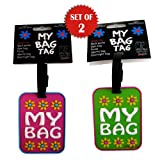 """MY BAG"" FLORAL LUGGAGE TAGS (SET OF 2!)"