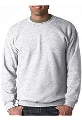Gildan Men's Long Sleeve Heavy Blend Crewneck Sweatshirt_Ash_XXX-Large