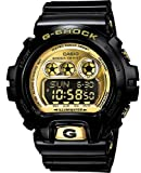 Casio #GDX6900FB-1 Men's XL Metallic Gold Dial Alarm Chronograph Glossy Black G Shock Watch