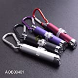 Laser Pointer (Qty 6) Six Pcs: 3-in-1 Laser Pointer with Red Laser, UV Light & LED Light + key clip - SIX Pointers INCLUDED!
